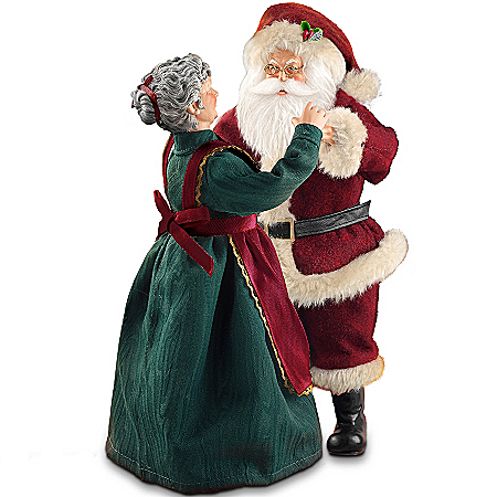 Thomas Kinkade Musical Santa Claus Christmas Figurine: Santa's Christmas Dance by The Bradford Exchange Online - Lovely Exchange