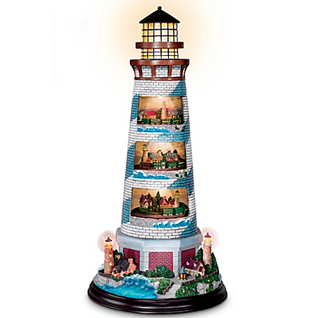 Thomas Kinkade's Masterpiece Tower Of Light Lighthouse Sculpture by The Bradford Exchange Online - Lovely Exchange