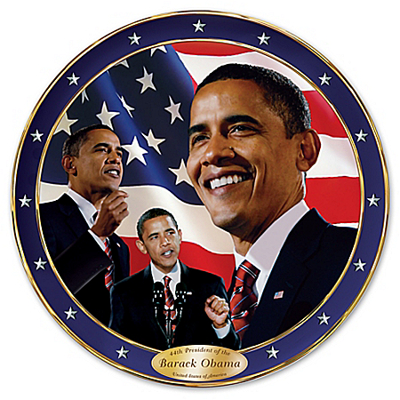 Yes We Can Barack Obama Commemorative Collector Plate by The Bradford Exchange Online - Lovely Exchange