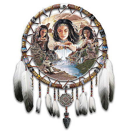Native American Collectibles Native American-Inspired Dreamcatcher Wall Decor Art: Dreams Of The Sacred Elements