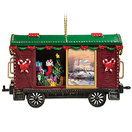Thomas Kinkade Christmas Express Ornament: Hometown Memories