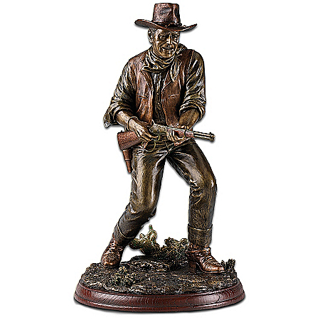 The John Wayne Lawman Bronze-Toned Sculpture