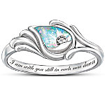 Diamond And Created Opal Women's Ring - I Am With You Still