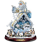 Thomas Kinkade Moving Santa Claus Tabletop Figurine - And To All A Good Night