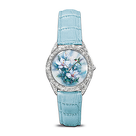 Lena Liu Artistic Watch With Swarovski Crystals: Crown Jewels Of Nature