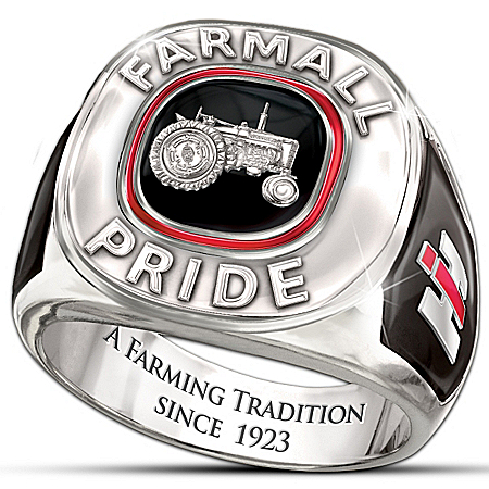 Officially Licensed Farmall Pride Solid Sterling Silver Men's Ring