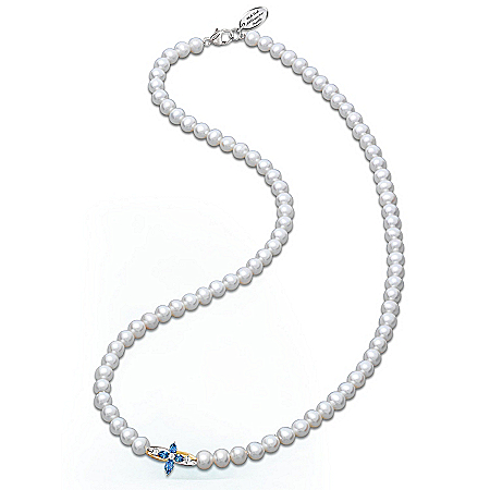 """The Trinity"" Sapphire And Diamond Cultured Freshwater Pearl Necklace"