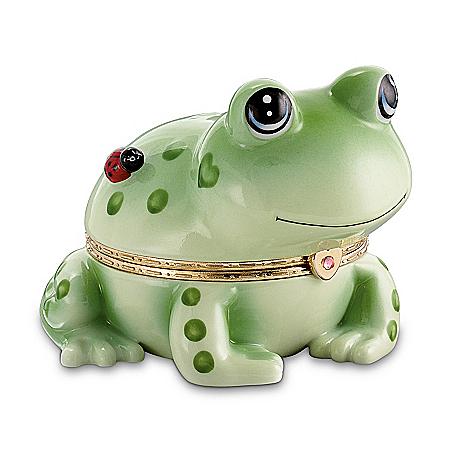 Hoppy Frog Music Box - Porcelain