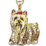 Best In Show Dog Lovers Crystal Pendant Necklace