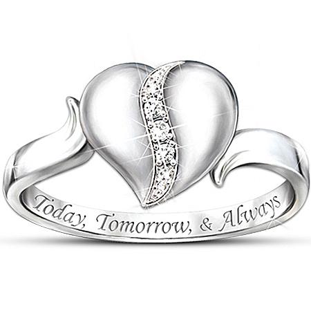 My Precious Daughter Heart-Shaped Diamond Ring