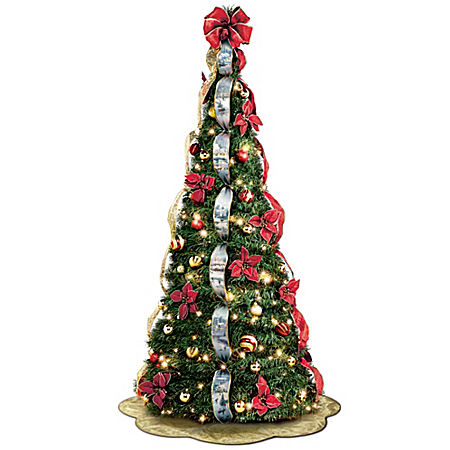 Christmas Decoration Thomas Kinkade Pre-Lit Pull-Up Christmas Tree: Wondrous Winter