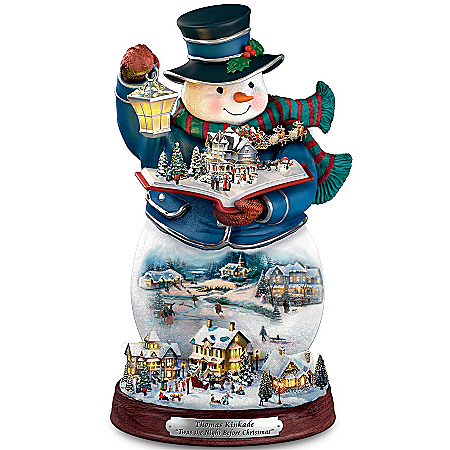 Thomas Kinkade Storytelling Light-Up Snowman Figurine: Twas The Night Before Christmas
