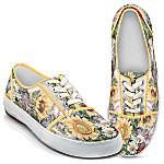 Lena Liu Artistically Designed Canvas Sneakers - Sunflower Splendor