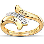 Our Love Grows Stronger Personalized Journey Ring - Romantic Jewelry For Her
