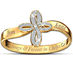 Thomas Kinkade Personalized Religious Couples Ring - Always & Forever In Christ