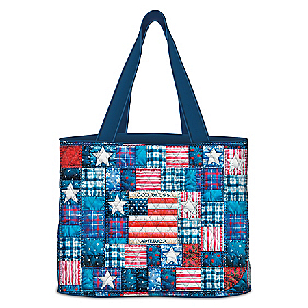 American Pride Women's Quilted Tote Bag