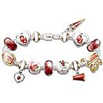 Oklahoma Sooners Charm Bracelet - Show Your Crimson Pride
