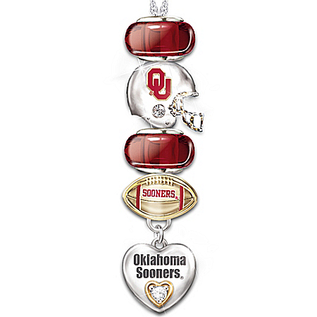University of Oklahoma Sooners #1 Fan Charm Necklace: Go Sooners! by The Bradford Exchange Online - Lovely Exchange