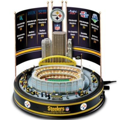 Bradford Exchange NFL Pittsburgh Steelers Super Bowl Champions Musical Carousel