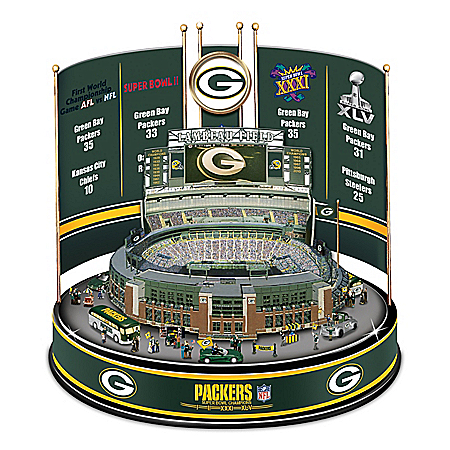 Photo of Green Bay Packers NFL Super Bowl Champions Lambeau Field Illuminated Carousel by The Bradford Exchange Online
