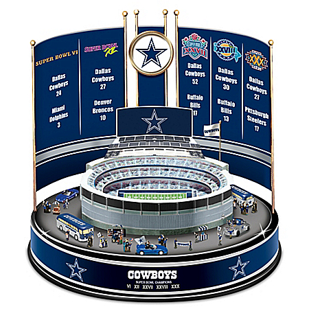 Dallas Cowboys NFL Super Bowl Champions Illuminated Victory Carousel