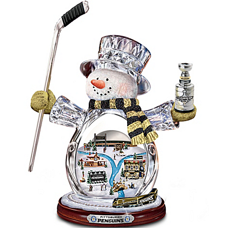 NHL Pittsburgh Penguins® Crystal Snowman Figurine