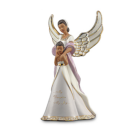 Mother-Daughter Heirloom Porcelain African Batik-Inspired Figurine: My Daughter, My Joy