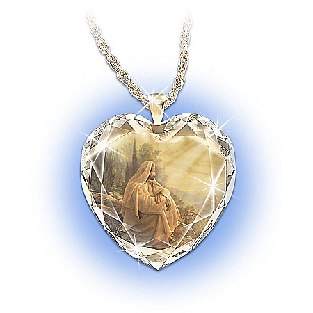 Always With You Crystal Heart Pendant Necklace