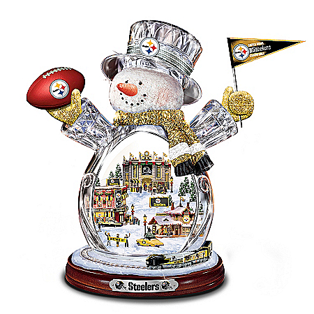 NFL Pittsburgh Steelers Snowman Figurine