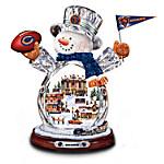 Chicago Bears Masterpiece Edition Crystal Snowman Figurine
