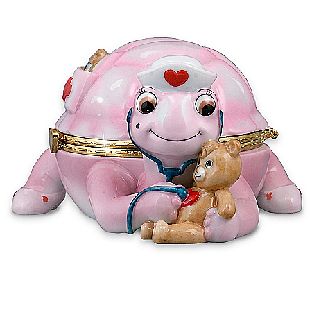 """Gifts for Nurses Loving"""" Turtle Music Box: Collectible Gift For Nurses"""