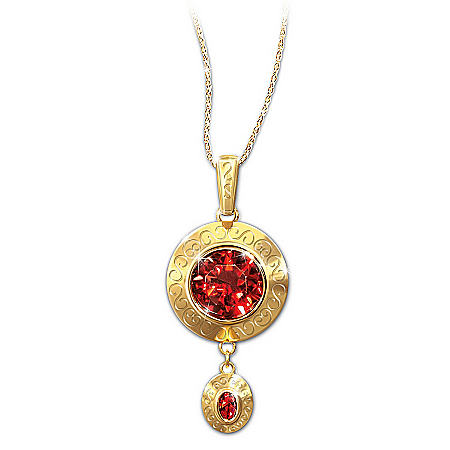 Scarlett's Fire Pendant Necklace: Gone With The Wind Replica Design