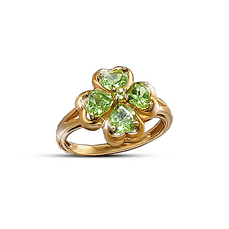 The Luck Of The Irish Four-Leaf Clover Ring