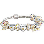 Child Name-Engraved Personalized Birthstone Bracelet For Mom - Forever In A Mother's Heart