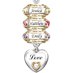 Forever In A Mother's Heart Personalized Birthstone Necklace