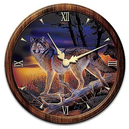 Illuminations Of The Wild Wall Clock