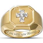 The Devotion Diamond Men's Ring With A Cross Design