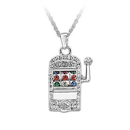 Lucky Jackpot Slot Machine Pendant Necklace