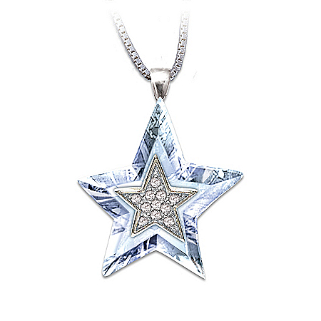 """Granddaughter, You're My Shining Star"" Crystal Pendant Necklace"