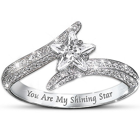 "My Daughter, You Are My Shining Star"" Sterling Silver Women's Ring"
