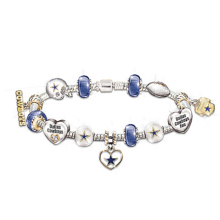 Go Cowboys! #1 Fan Charm Bracelet by The Bradford Exchange Online - Lovely Exchange
