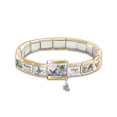 Lena Liu On Gentle Wings Italian Charm Bracelet