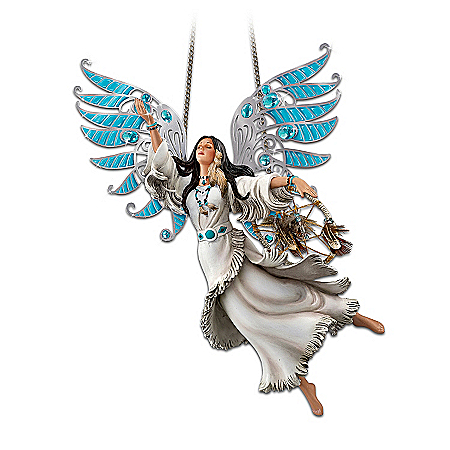 Spirit Of Tranquility: Native American-Inspired Spirit Maiden Hanging Sculpture