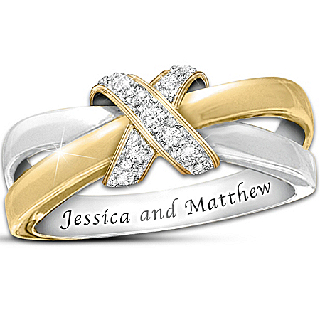 Photo of Eternity's Kiss Diamond Personalized Women's Ring by The Bradford Exchange Online