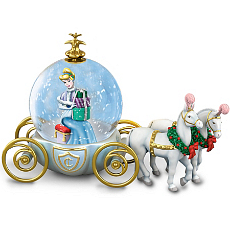 Musical Snow Globes Disney Miniature Cinderella Snowglobe: A Party For A Princess