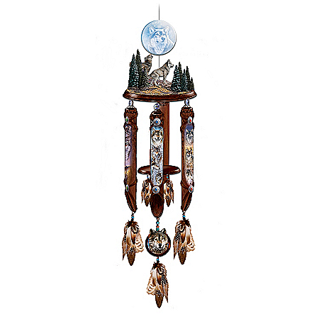 Windsong: Native American-Style Hanging Sculpture With Wind Chimes