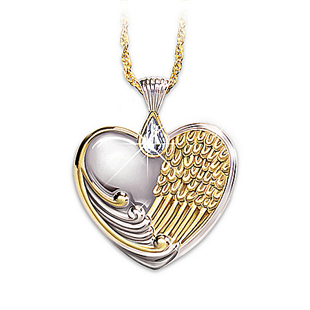 Photo of Always In My Heart Crystal Teardrop Pendant by The Bradford Exchange Online