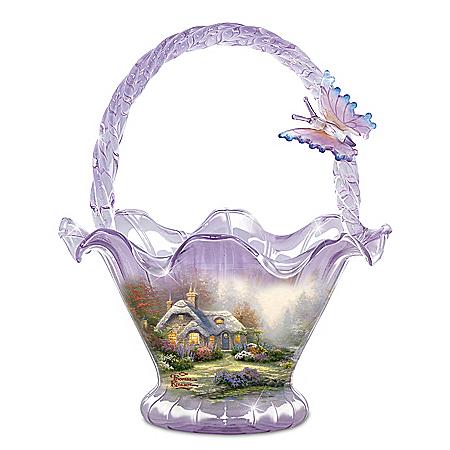 Thomas Kinkade Everett's Cottage Hand-Blown Glass Bowl