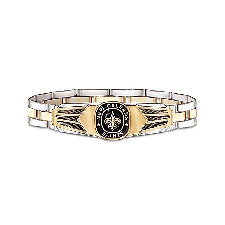 NFL New Orleans Saints Men's Stainless Steel Bracelet