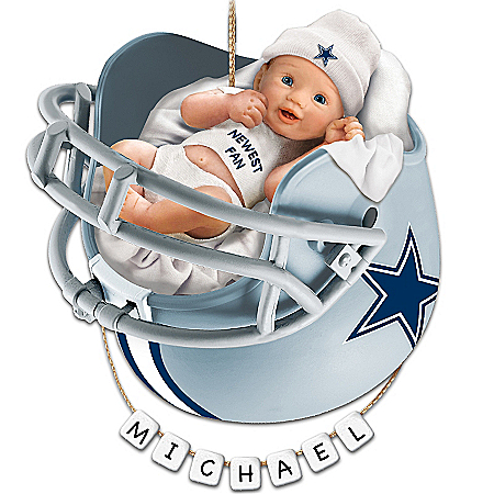 Dallas Cowboys Personalized Baby's First Christmas Ornament